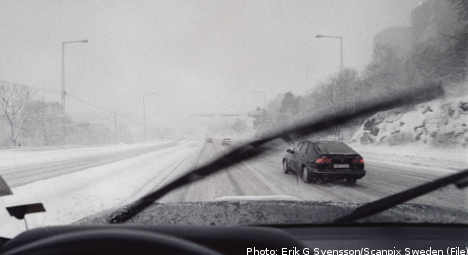 Multiple accidents on Sweden's slippery roads