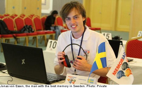 The man with the best memory in Sweden