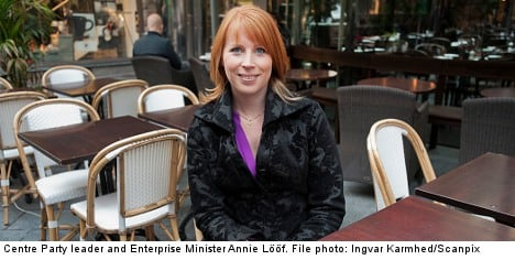 Lööf rules out polygamy in Centre Party row