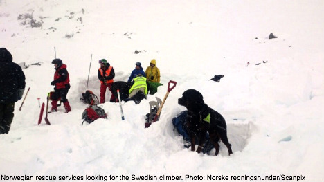 Swedish climber killed by avalanche in Norway