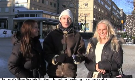 Video: Swedes untangle the untranslatable