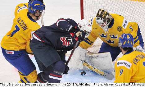The US steals Sweden's hockey gold dreams