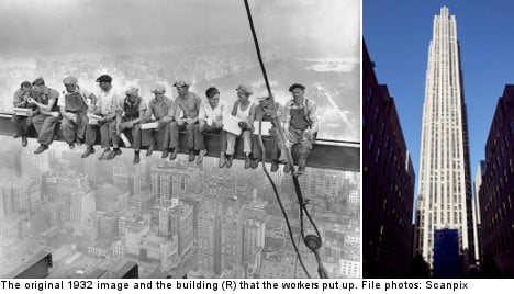 'My dad is in famous NY skyscraper pic': Swede