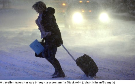 Stockholm warned of 'messy' snowstorm