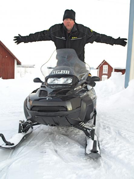 Paul Connolly's snow scooter adventure