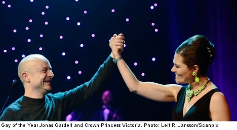 Princess steals the show at Sweden's gay gala