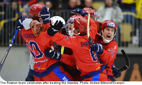 Russia beats Sweden to win gold in bandy final