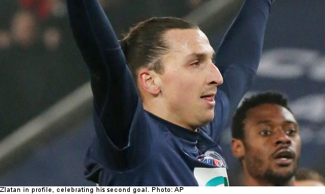 Zlatan answers 'big nose' jibe with two goals