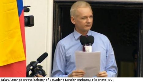 Assange policing costs near 30 million kronor