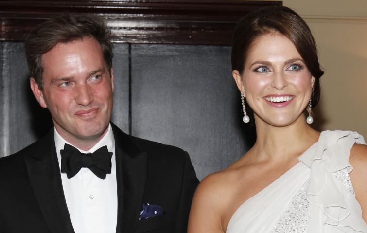 Swedish Princess Madeleine and her fiancé, Chris O'Neill, attend the Raoul Wallenberg Civic Courage Award Gala in New York.Photo: Amy Sussman/AP