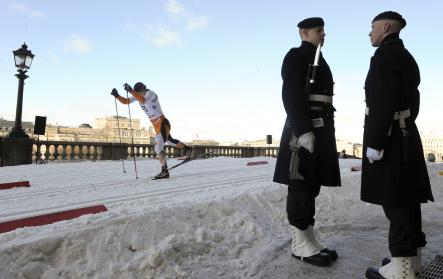 Cross-country skiers surround the royal palace in Stockholm<br>Cross-country skiing and royalty in Sweden have been bound together ever since men on skis helped Gustav Vasa launch a rebellion against the Danes in the 1500s. And in late February or March, skiers glide through the streets on Gamla Stan in the Royal Palace Sprint. So if you happen to be in Stockholm and do a double take at the sight of skiers sprinting in front of the palace, rest easy...spring is just around the corner.Photo: Anders Wiklund/Scanpix
