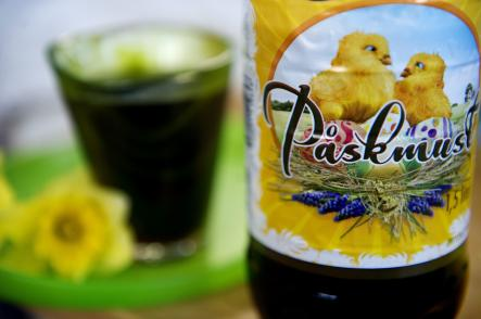 <i>Påskmust</i> and other Easter treats<br>Sweden isn't the only country to celebrate Easter, but it is one of only ones where store shelves are stocked high and low with this uniquely Swedish drink. In reality, the carbonated beverage is simply <i>julmust</i>, which in available around Christmas, in disguise. With a taste akin to root beer, <i>påskmust</i> is a staple at Easter meals in Sweden, along with snapps, pickled herring, and decorative eggs filled with candy.Photo: Jessica Gow/Scanpix