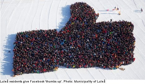 Luleå gives Facebook 'thumbs up' in record bid