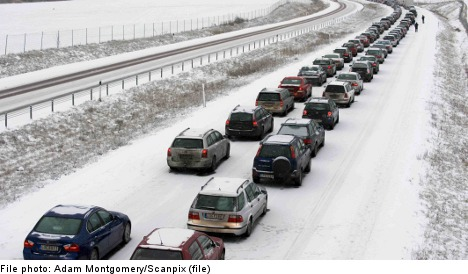Police warn drivers over snow and hard winds