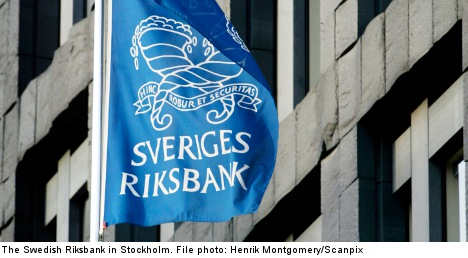 Riksbank holds interest rate at one percent