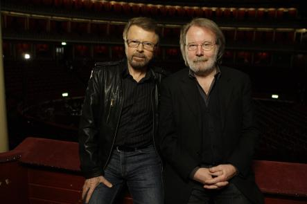 """Ulvaeus and Andersson just before a dress rehearsal of their musical """"Kristina"""" in LondonPhoto: Joel Ryan/Scanpix"""