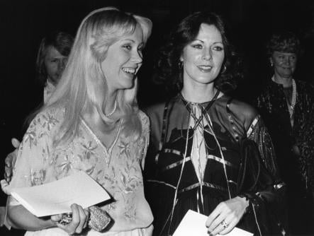 Fältskog and Lyngstad<br>The female members of Abba attended a dinner at the Royal Palace in Stockholm in 1979, invited by the Royal family themselves.Photo: Olle Lindeborg/Scanpix
