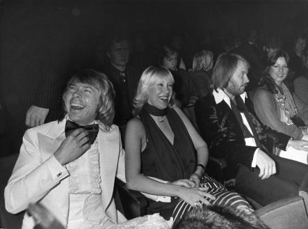 """ABBA - the movie<br>By 1977, three years after they won the Eurovision Song Contest, """"ABBA - the movie"""" premiered in Stockholm. The whole band attended.Photo: Kent Östlund/Scanpix"""