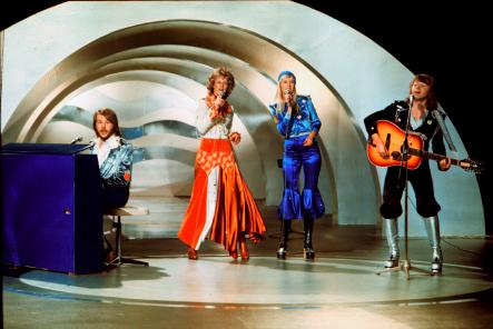 Eurovision 1974<br>Waterloo was chosen as the best song in the Eurovision history at the 50th anniversary competition in 2005.Photo: Olle Lindeborg/Scanpix