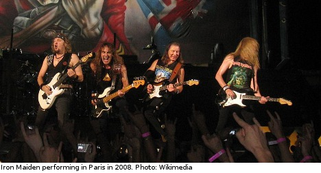 Pensioners charged over Iron Maiden revenge
