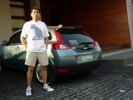 Abba and the Volvo<br>Jonas Santiago has a special sticker on his Volvo, showcasing his love for AbbaPhoto: Jonas Santiago