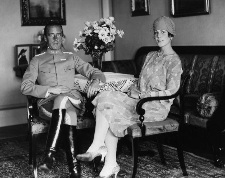 Swedish Count Folke Bernadotte with his American wife Estelle Manville. The minor Swedish royal, who negotiated the release of thousands of prisoners from German concentration camps, married his Pleasantville, NY bride in 1928.Photo: Pressens bild/Scanpix