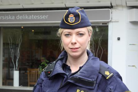 """""""The people who live here don't deserve this, the police don't deserve it,"""" Ann-Christine Kleist of the Västerort Police said.Photo: Sanna Håkansson"""
