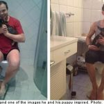 Ex-minister bathes in viral toilet puppy love