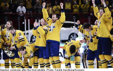 Sweden win ice hockey world champs at home