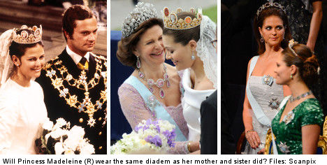 Swedes ponder younger princess' wedding style
