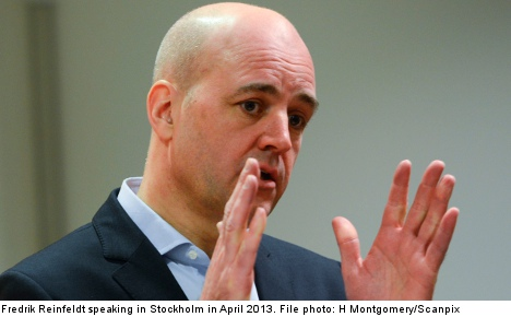 Russia 'lacks capacity' to attack Sweden: Reinfeldt