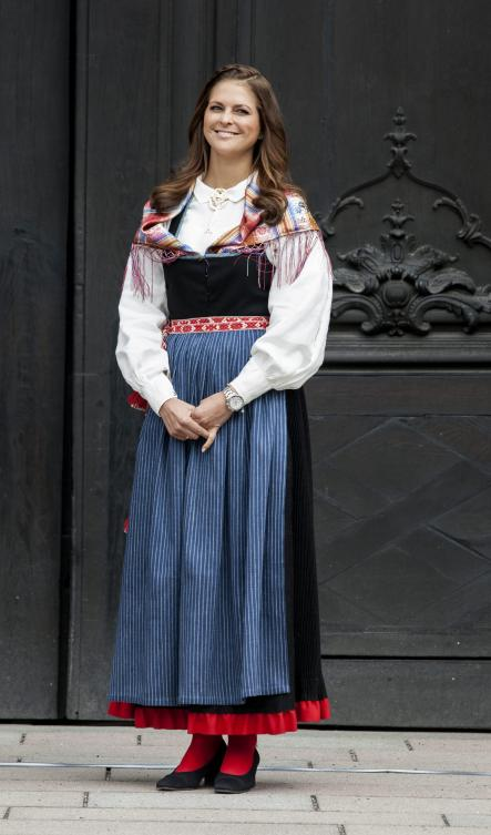 The princess in traditional Swedish folk costume on National Day in 2012.Photo: Christine Olsson/Scanpix