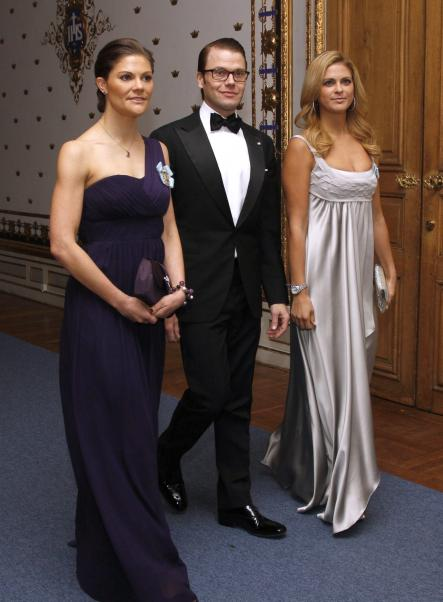A then-blonde Madeleine (R) at a 2010 event with her sister and brother-in-law, Crown Princess Victoria and Prince Daniel.Photo: Sören Andersson/Scanpix