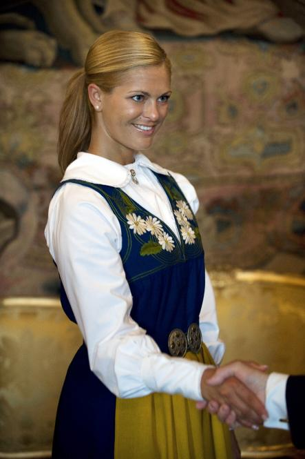 A tanned Princess Madeleine as the Swedish Royal family celebrated National Day at the Royal Palace in Stockholm June 6th, 2008.Photo: Maja Suslin