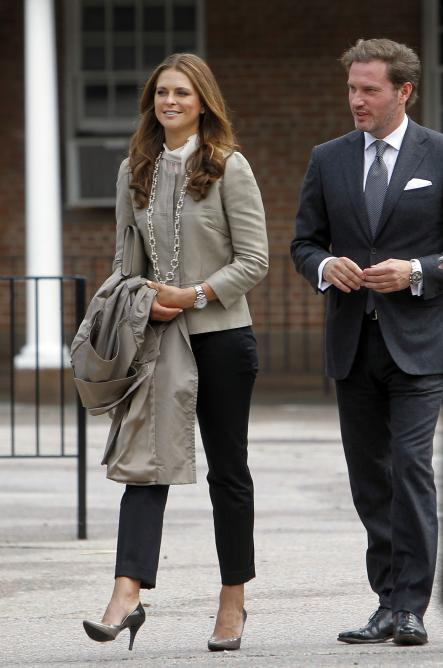 Princess Madeleine and her fiance Christopher O'Neil tour Castle Clinton National Monument, Wednesday May 8th 2013 in New York.Photo: AP/Jason DeCrow