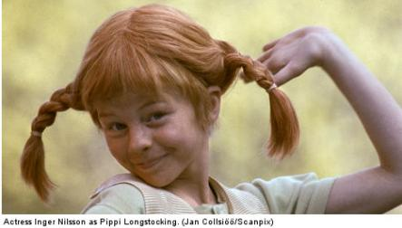 """Pippi Longstocking<br>Pippi Longstocking Speaking of famous hairdos, the matching orange pigtails of the signature character of Swedish children's author Astrid Lindgren may be one of the most famous Swedish hairstyles. The beloved Pippi, brought to life by Inger Nilsson in a 1969 TV series, is considered one of the most influential characters in all of children's literature. With the books translated into 64 languages worldwide, it's hard to underestimate the appeal and impact of """"the strongest"""