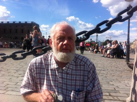 """Lasse Holmberg<br>""""I'm just here for the people. I'm not against the royal family at all, but I won't be staying here the whole day. It sure is nice to see so many people here."""""""