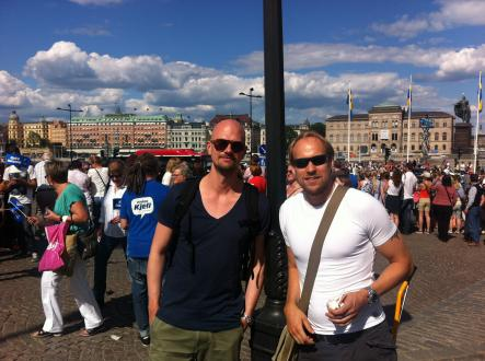 """Björn and Marcus<br>""""I'm not really a royalist, but I am paying for this, so I may as well be here,"""" says Björn (left)."""