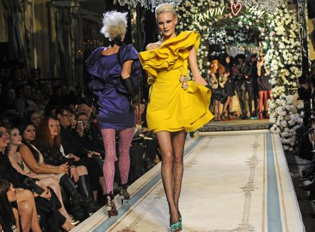Lanvin, 2010<br>Flounces, dotty sheer tights and eye-poking colours do it for me everytime.Photo: H&M