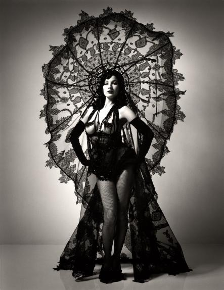 """Dita Von Teese wearing """"Circé"""" from the 2003 Buttons collection, Haute couture spring/summer 2003.Photo: Perou"""