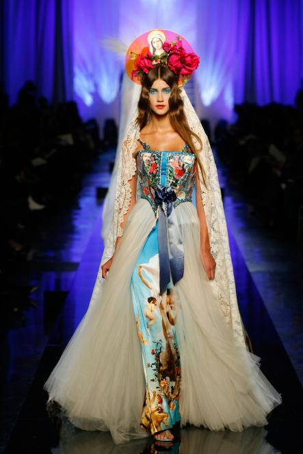 A model wears the Apparitions gown from Les Vierges [Virgins] collection, Haute couture spring/summer 2007.Photo: Patrice Stable/Jean Paul Gaultier Collection