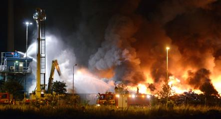 Fire at Malmö Recycling Station