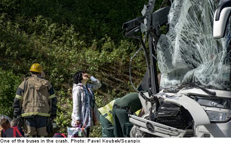 One dead and 60 to hospital after crash