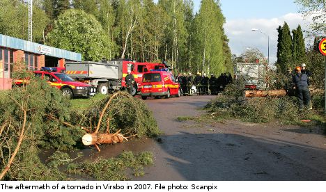 Tornadoes and floods strike across Sweden