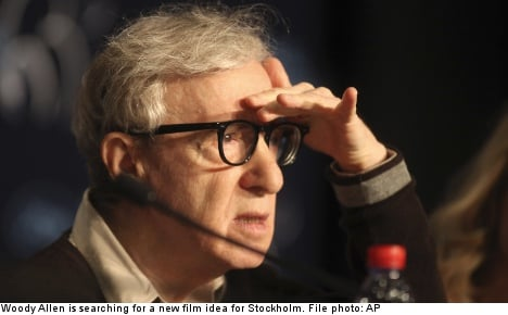 Woody Allen 'needs a story' for Stockholm film
