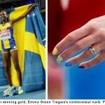 Storm over rainbow nails clouds Sweden gold