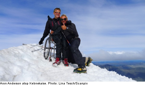 How I climbed Sweden's highest mountain – with a wheelchair