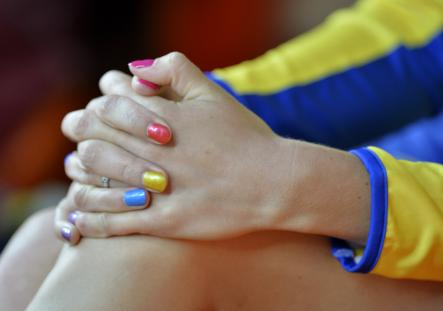 Rainbow nails in pictures