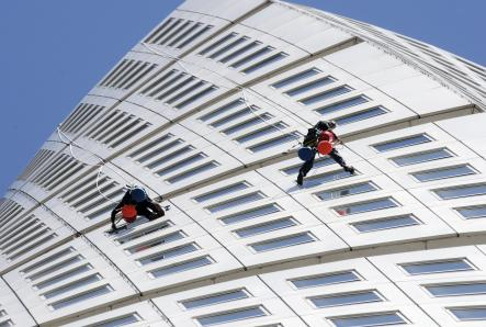 Workers on the building can't be afraid of heightsPhoto: Johan Nilsson/Scanpix