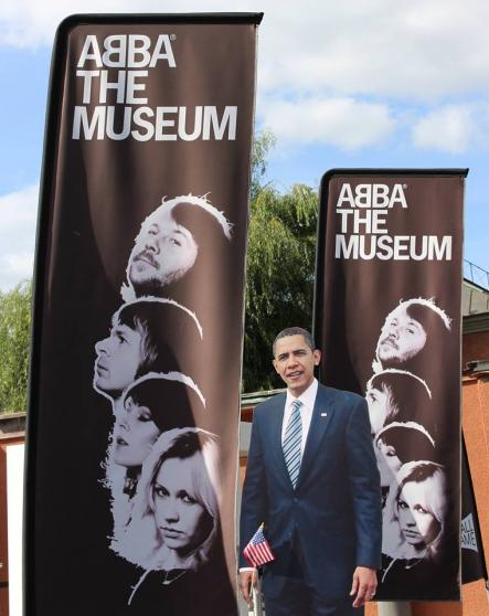 Obama at the Abba MuseumPhoto: US Embassy Sweden